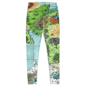 Queen's Treasure Map Leggings Deven Rue