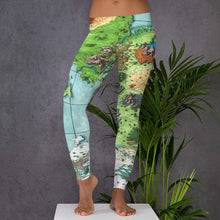 Load image into Gallery viewer, Queen's Treasure Map Leggings XS Deven Rue