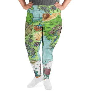 Queen's Treasure Map Plus Size Leggings Deven Rue