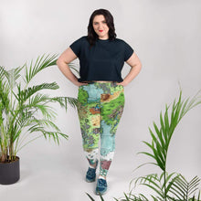 Load image into Gallery viewer, Queen's Treasure Map Plus Size Leggings 2XL Deven Rue