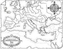 Load image into Gallery viewer, Roman Empire Map Map Downloads Black & White Deven Rue