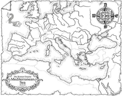 Roman Empire Map Map Downloads Black & White Deven Rue