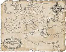 Load image into Gallery viewer, Roman Empire Map Map Downloads Parchment Deven Rue