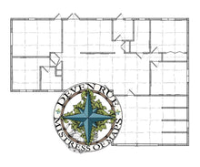 Load image into Gallery viewer, Rue Manor Printed Map Prop Maps Floor Plans Deven Rue