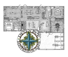 Load image into Gallery viewer, Rue Manor Printed Map Prop Maps without text Deven Rue