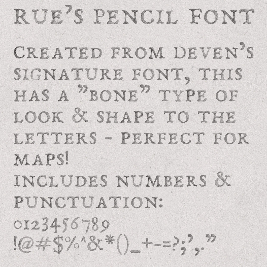 Rue's Pencil Font Font Deven Rue