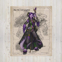 Load image into Gallery viewer, Rue the Cartographer Throw Blanket by Deven Rue
