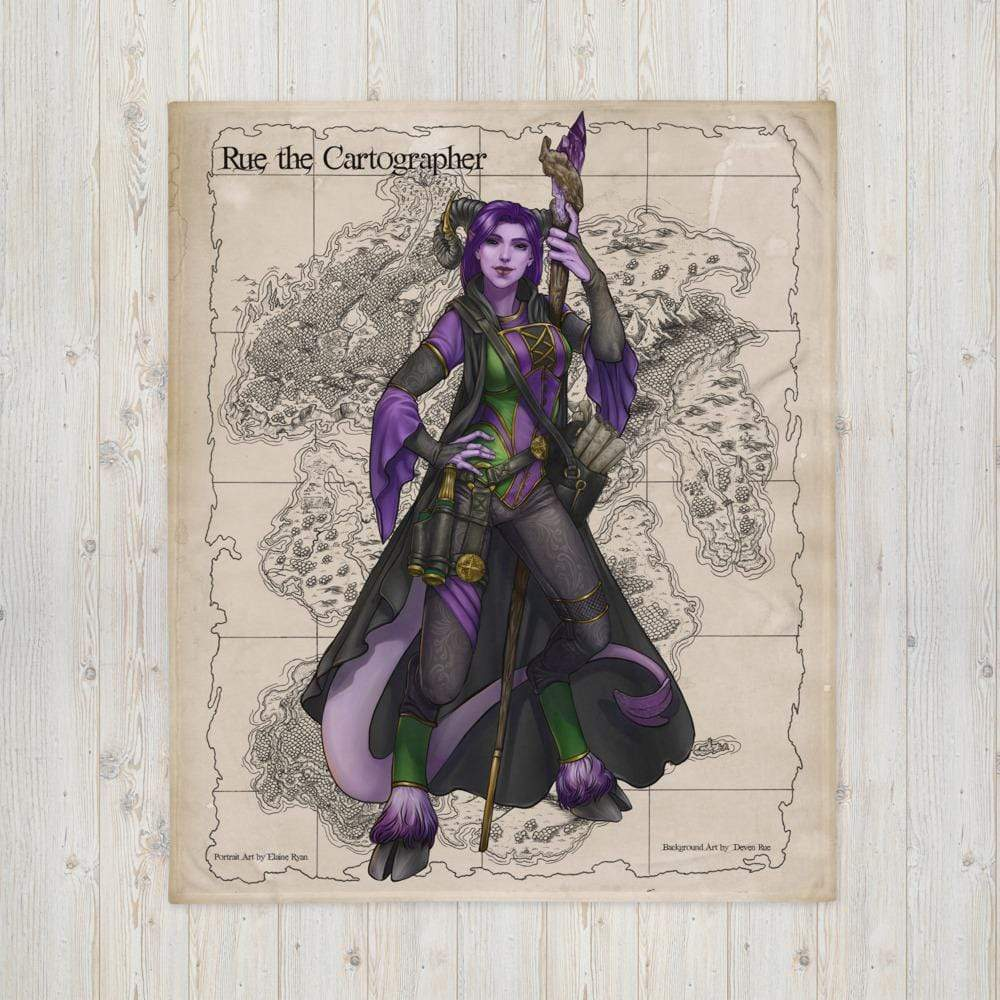 Rue the Cartographer Throw Blanket by Deven Rue