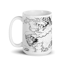 Load image into Gallery viewer, Sailing Into the Unknown Map Mug Mug Deven Rue