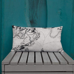 Sailing into the Unknown Pillow 20×12 Deven Rue