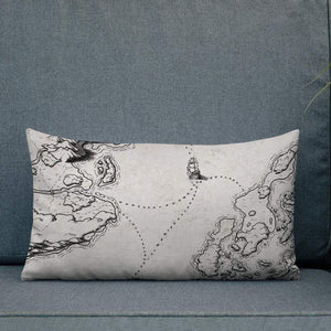 Sailing into the Unknown Pillow Deven Rue
