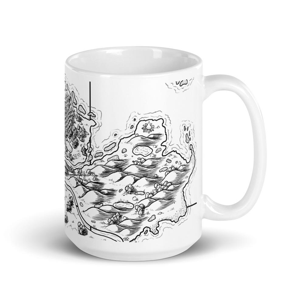 Seaside Bonfire Map Mug Mug Deven Rue