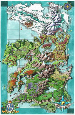 Seat of the Aturean Empire Printed Map Prop Maps 36x24 Color with text Deven Rue