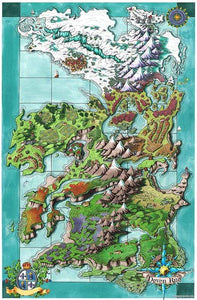 Seat of the Aturean Empire Printed Map Prop Maps 36x24 Color without text Deven Rue