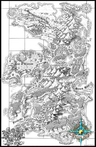 Seat of the Aturean Empire Printed Map Prop Maps With text Deven Rue