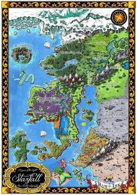 Starfall Printed Map Prop Maps 36x25 Color with text Deven Rue