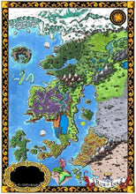 Load image into Gallery viewer, Starfall Printed Map Prop Maps 36x25 Color without text Deven Rue
