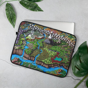 Steppes of Augrudeen Laptop Sleeve Laptop Sleeve 15 in Deven Rue