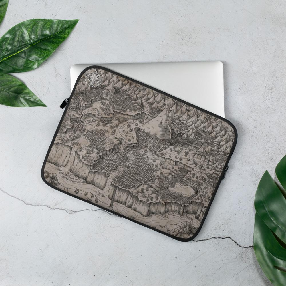 Steppes of Augrudeen on Parchment Laptop Sleeve Laptop Sleeve 13 in Deven Rue