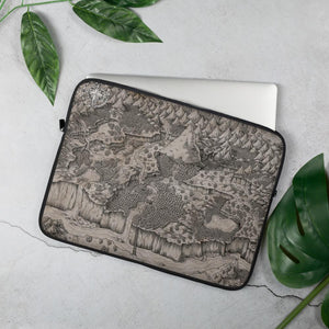Steppes of Augrudeen on Parchment Laptop Sleeve Laptop Sleeve 15 in Deven Rue