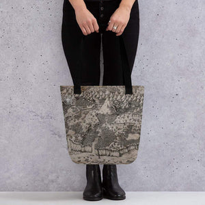 Deven Rue Steppes of Augrudeen on Parchment Tote Bag