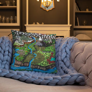 Steppes of Augrudeen Pillow Pillow 18×18 Deven Rue