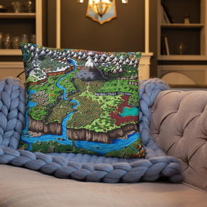 Steppes of Augrudeen Pillow Pillow 22×22 Deven Rue