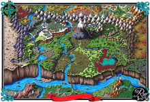 Load image into Gallery viewer, Steppes of Augrudeen Printed Map Prop Maps 36x24 Color without text Deven Rue
