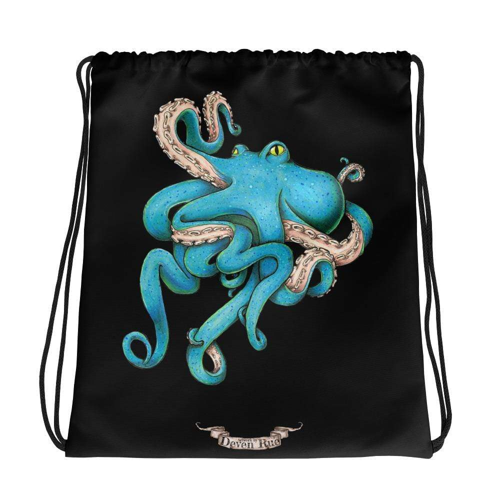 Deven Rue Tangled Octopus Drawstring Bag