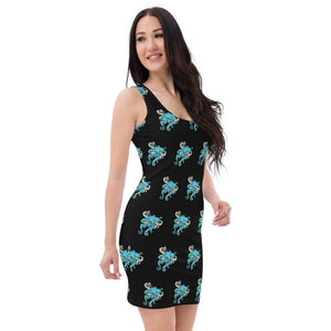 Tangled Octopus Fitted Dress Deven Rue