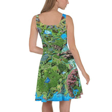 Load image into Gallery viewer, Taur'Syldor Map Skater Dress Deven Rue