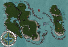 Load image into Gallery viewer, The Blood Reef Isles Map Map Downloads Deven Rue