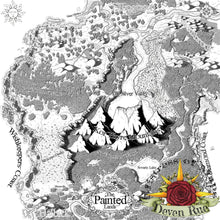 Load image into Gallery viewer, The Painted Lands Printed Map Prop Maps With text Deven Rue