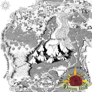 The Painted Lands Printed Map Prop Maps With text Deven Rue