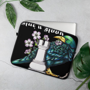 The Rue & Rook Tavern Laptop Sleeve Laptop Sleeve 15 in Deven Rue