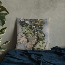Load image into Gallery viewer, Vendras Map Pillows 22×22 Deven Rue