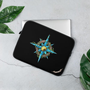 Wild Compass Rose Laptop Sleeve Laptop Sleeve 13 in Deven Rue
