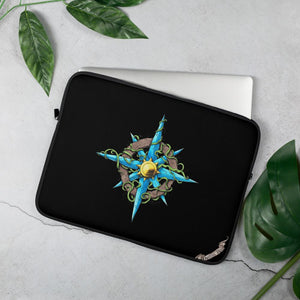 Wild Compass Rose Laptop Sleeve Laptop Sleeve 15 in Deven Rue