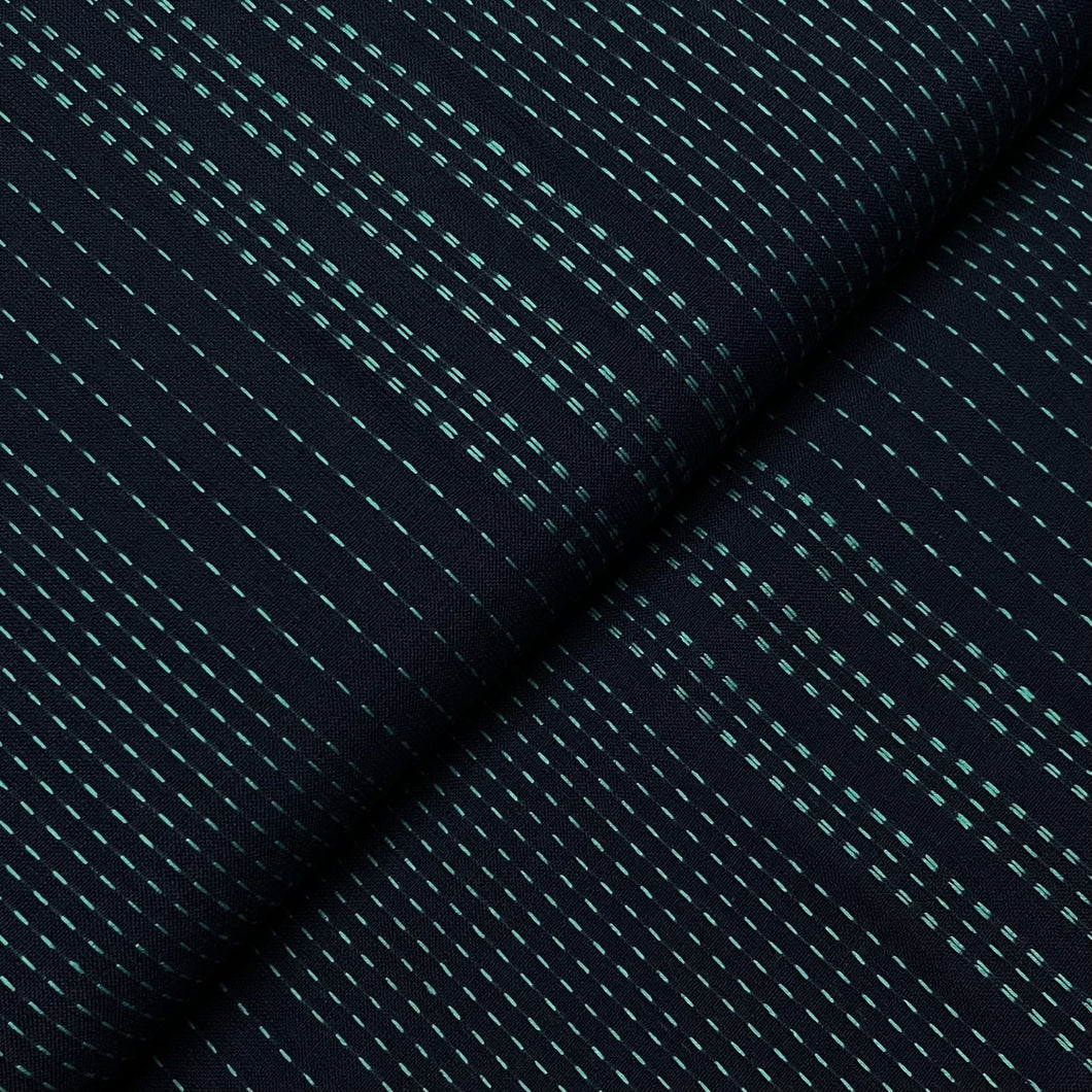 #FabricAndoverKnotty Quilterblue shashiko- interwoven giucy giuce1/2 yard1# - Knotty Quilter