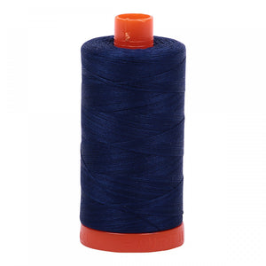 #threadAurifilKnotty Quiltershades of blue and turquoise - aurifil- Mako 50wt 1422ydsA1050-2784dark navy9# - Knotty Quilter