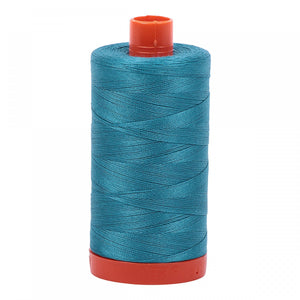#threadAurifilKnotty Quiltershades of blue and turquoise - aurifil- Mako 50wt 1422ydsA1050-4182dark turquoise14# - Knotty Quilter