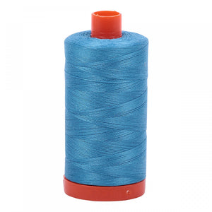 #threadAurifilKnotty Quiltershades of blue and turquoise - aurifil- Mako 50wt 1422ydsA1050-1320bright teal4# - Knotty Quilter