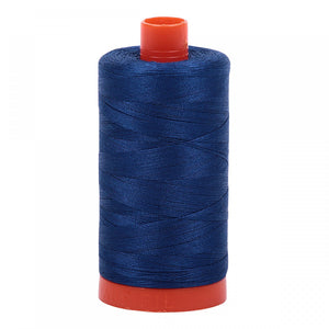 #threadAurifilKnotty Quiltershades of blue and turquoise - aurifil- Mako 50wt 1422ydsA1050-2780dark delft blue7# - Knotty Quilter