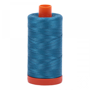 #threadAurifilKnotty Quiltershades of blue and turquoise - aurifil- Mako 50wt 1422ydsA1050-1125medium teal1# - Knotty Quilter