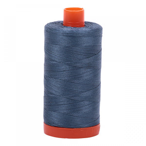 #threadAurifilKnotty Quiltershades of blue and turquoise - aurifil- Mako 50wt 1422ydsA1050-1310medium blue grey3# - Knotty Quilter