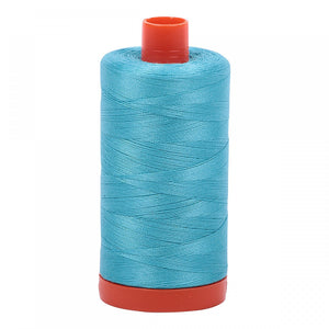 #threadAurifilKnotty Quiltershades of blue and turquoise - aurifil- Mako 50wt 1422ydsA1050-5005bright turquoise15# - Knotty Quilter