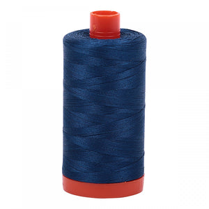 #threadAurifilKnotty Quiltershades of blue and turquoise - aurifil- Mako 50wt 1422ydsA1050-2783medium delft blue8# - Knotty Quilter