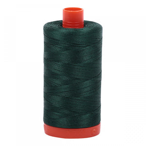 #threadAurifilKnotty Quiltershades of green - aurifil- Mako 50wt 1422ydsA1050-2885medium spruce7# - Knotty Quilter