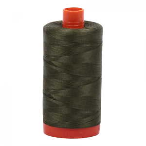 #threadAurifilKnotty Quiltershades of green - aurifil- Mako 50wt 1422ydsA1050-5023medium green8# - Knotty Quilter