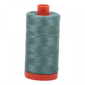 #threadAurifilKnotty Quiltershades of green - aurifil- Mako 50wt 1422ydsA1050-2850medium juniper5# - Knotty Quilter